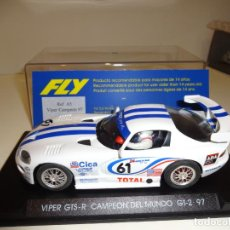 Slot Cars: FLY. DODGE VIPER. CAMPEON 1997. REF. A-5. Lote 163587622