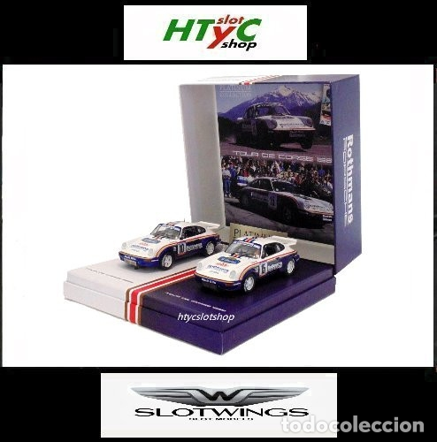 SLOTWINGS 78 UNIDADES PORSCHE 911 SC RS ROTHMANS PLATINUM COLLECTION TOUR DE CORSE 1985 RW044-01 (Juguetes - Slot Cars - Fly)