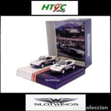 Slot Cars: SLOTWINGS 78 UNIDADES PORSCHE 911 SC RS ROTHMANS PLATINUM COLLECTION TOUR DE CORSE 1985 RW044-01. Lote 163597506
