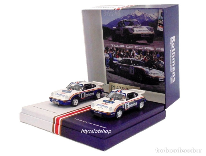 Slot Cars: SLOTWINGS 78 UNIDADES PORSCHE 911 SC RS ROTHMANS PLATINUM COLLECTION TOUR DE CORSE 1985 RW044-01 - Foto 2 - 163597506