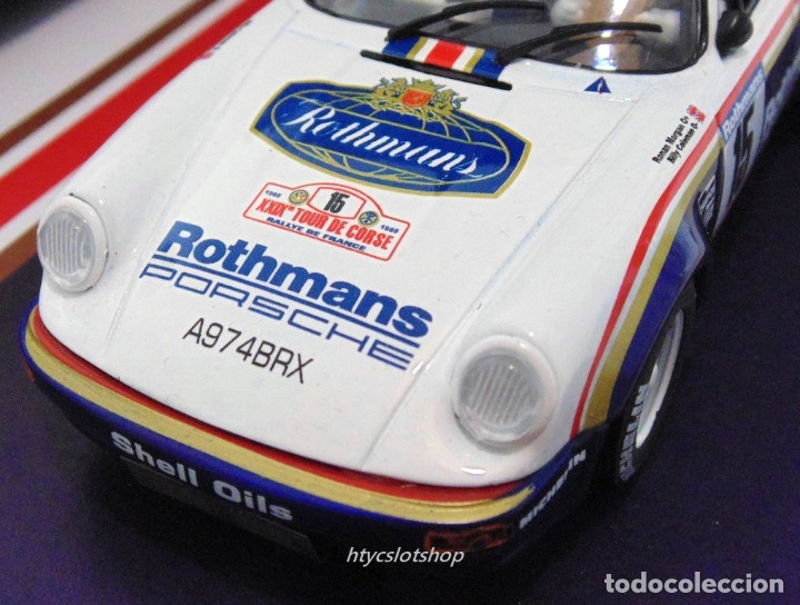 Slot Cars: SLOTWINGS 78 UNIDADES PORSCHE 911 SC RS ROTHMANS PLATINUM COLLECTION TOUR DE CORSE 1985 RW044-01 - Foto 12 - 163597506