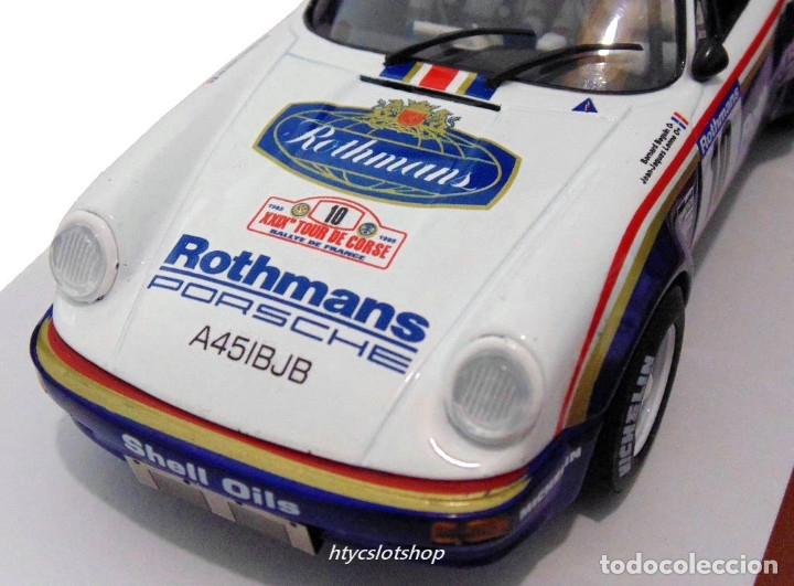 Slot Cars: SLOTWINGS 78 UNIDADES PORSCHE 911 SC RS ROTHMANS PLATINUM COLLECTION TOUR DE CORSE 1985 RW044-01 - Foto 11 - 163597506