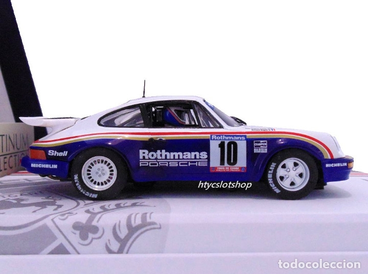 Slot Cars: SLOTWINGS 78 UNIDADES PORSCHE 911 SC RS ROTHMANS PLATINUM COLLECTION TOUR DE CORSE 1985 RW044-01 - Foto 5 - 163597506