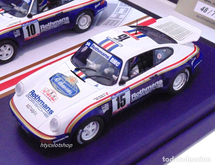 Slot Cars: SLOTWINGS 78 UNIDADES PORSCHE 911 SC RS ROTHMANS PLATINUM COLLECTION TOUR DE CORSE 1985 RW044-01 - Foto 4 - 163597506
