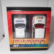 Slot Cars: FLY DUO KIT BMW M3 TELEFUNKEN + MILK ENERGY REF. 88297. Lote 164759348