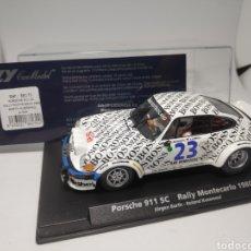 Slot Cars: FLY PORSCHE 911SC RALLY MONTECARLO 1980 REF. 88170. Lote 167561169
