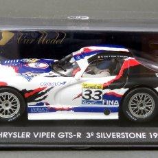 Slot Cars: CHRYSLER VIPER GTS R FLY 3ª SILVERSTONE 1999 NUEVO EN CAJA REF A 82 SIN USO. Lote 167933780