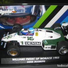 Slot Cars: WILLIAMS FW08C GP MONACO 1983 DE KEKE ROSBERG DE FLYSLOT. Lote 194531708