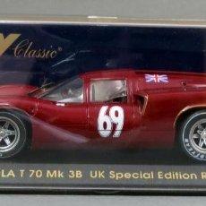 Slot Cars: LOLA T70 MK3B FLY UK SPECIAL EDITON RED NUEVO CAJA REF S 31 SIN USO. Lote 167946028