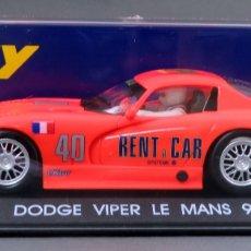 Slot Cars: DODGE VIPER FLY LE MANS 94 NARANJA NUEVO CAJA REF A 4 SIN USO. Lote 167947228