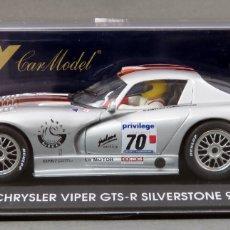 Slot Cars: CHRYSLER VIPER GTS FLY R SILVERSTONE 99 NUEVO CAJA REF A 81 SIN USO. Lote 167953144