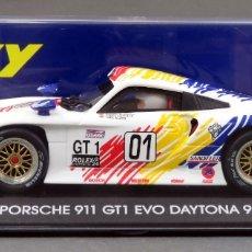 Slot Cars: PORSCHE 911 GT1 FLY EVO DAYTONA 98 ROHR NUEVO CAJA REF A 52 SIN USO. Lote 213328790