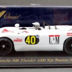 Slot Cars: PORSCHE 908 FLY FLUNDER 1000 KM BUENOS AIRES 1970 NUEVO CAJA REF C 46 SIN USO. Lote 167959924