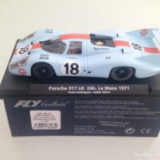Slot Cars: SLOT, FLY A1402-88183,PORSCHE 917 LH Nº18, GULF, P-RODRIGUEZ-J.OLIVER, LE MANS 1971. Lote 167973932