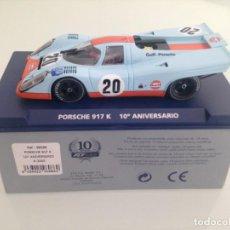 Slot Cars: SLOT, FLY A2005-96086, PORSCHE 917K Nº20 , GULF, LE MANS 1970, 10º ANIVERSARIO DE FLY, . Lote 167975912