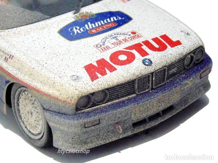 Slot Cars: SLOTWINGS EFECTO SUCIO SOLO 20 UNIDADES BMW M3 E30 #10 ROTHMANS 1º TOUR DE CORSE 1987 BÉGUIN / LENNE - Foto 8 - 168228030