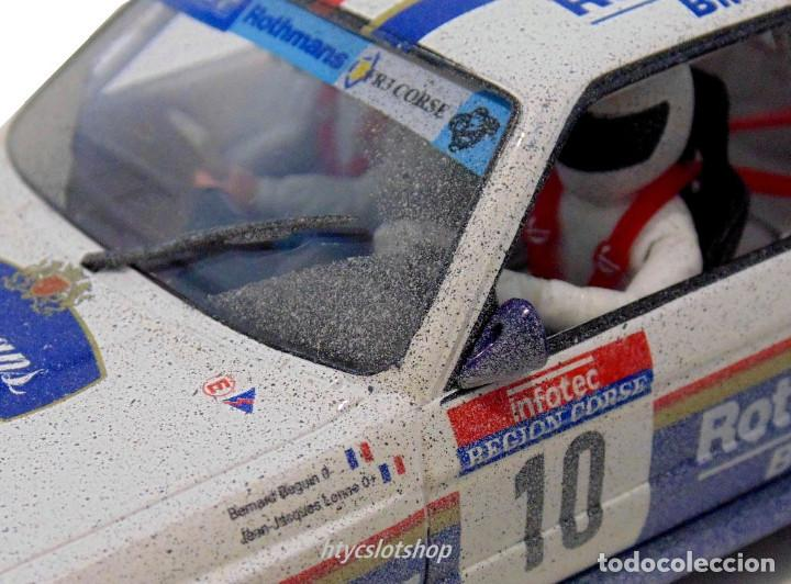 Slot Cars: SLOTWINGS EFECTO SUCIO SOLO 20 UNIDADES BMW M3 E30 #10 ROTHMANS 1º TOUR DE CORSE 1987 BÉGUIN / LENNE - Foto 9 - 168228030