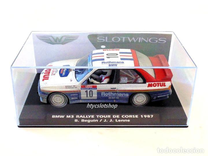 Slot Cars: SLOTWINGS EFECTO SUCIO SOLO 20 UNIDADES BMW M3 E30 #10 ROTHMANS 1º TOUR DE CORSE 1987 BÉGUIN / LENNE - Foto 12 - 168228030