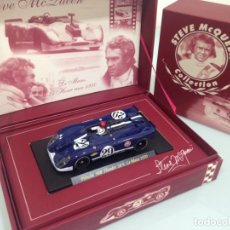 Slot Cars: SLOT, FLY SM2, STEVE MCQUEEN COLLECTION, PORSCHE 908/2 K FLUNDER Nº29, GULF, LE MANS 1970. Lote 168539568