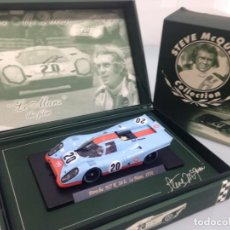 Slot Cars: SLOT, FLY SM3, STEVE MCQUEEN COLLECTION, PORSCHE 917K Nº20, GULF, LE MANS 1970. Lote 168539692