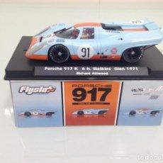 Slot Cars: SLOT, FLYSLOT 005106, PORSCHE 917K Nº91, GULF, R.ATTWOOD, 6H.WATKINS GLEN 1971, CAN-AM, 496/750. Lote 168730896