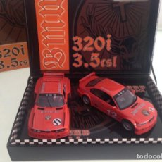 Slot Cars: SLOT, FLY E-681-96034,BMW 3.5 CSL Nº14, BMW 320I Nº12, JAGERMEISTER, H+T MOTOR RACING, EDITION 2004. Lote 202300523