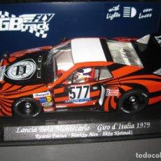 Slot Cars: LANCIA BETA MONTECARLO 577 GIRO DE ITALIA 1979 CON LUCES DE FLY. Lote 205198238