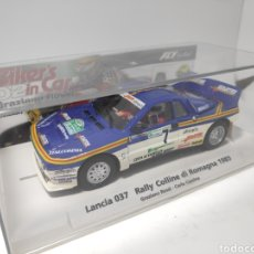 Slot Cars: FLY LANCIA 037 BIKERS IN CAR 02 GRAZIANO ROSSI 1985 REF. 99103. Lote 169767300
