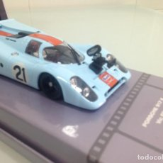 Slot Cars: SLOT,FLY 99128,PORSCHE 917K Nº21, GULF, LE MANS, MAKING OF LE MANS, COLLECTION 02. Lote 170002700