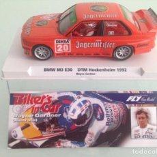 Slot Cars: SLOT, FLY 99067,BMW M3 E30 Nº20, JAERMEISTER, WAYE GARDNER, DTM HOCKENHEIM 1992, BIKER'S IN CAR 01. Lote 170302996