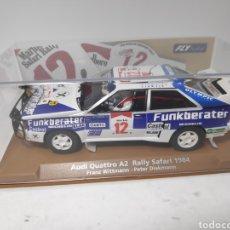 Slot Cars: FLY AUDI QUATTRO A2 RALLY SAFARI 1984 REF. 96097. Lote 170707393