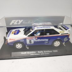 Slot Cars: FLY AUDI QUATTRO RALLY ANTIBES 1986 REF. 88276. Lote 189672475
