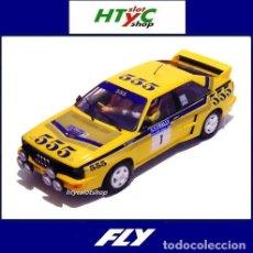 Slot Cars: FLY NOVEDAD AUDI QUATTRO A2 #1 WINNER RALLY HONG KONG BEIJING 1985 MIKKOLA / HERTZ A2003. Lote 237060535