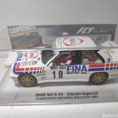 Slot Cars: FLY BMW M3 E30 EDICIÓN ESPECIAL CAMPEONATO NACIONAL RALLYSLOT 2007 REF. 99077. Lote 171209022