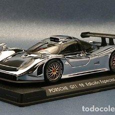 Slot Cars: FLY E-73 PORSCHE GT1 98 EDICIÓN ESPECIAL ESPAÑA CROMO. Lote 171353989