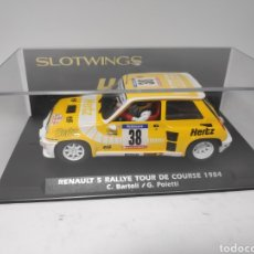 Slot Cars: SLOTWINGS RENAULT 5 TURBO HERTZ FLY RALLYE TOUR DE COURSE REF. W037-01. Lote 171413532