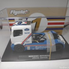 Slot Cars: FLYSLOT MERCEDES BENZ TRUCK ROTHMANS SPECIAL EDITION FLY. Lote 171634523