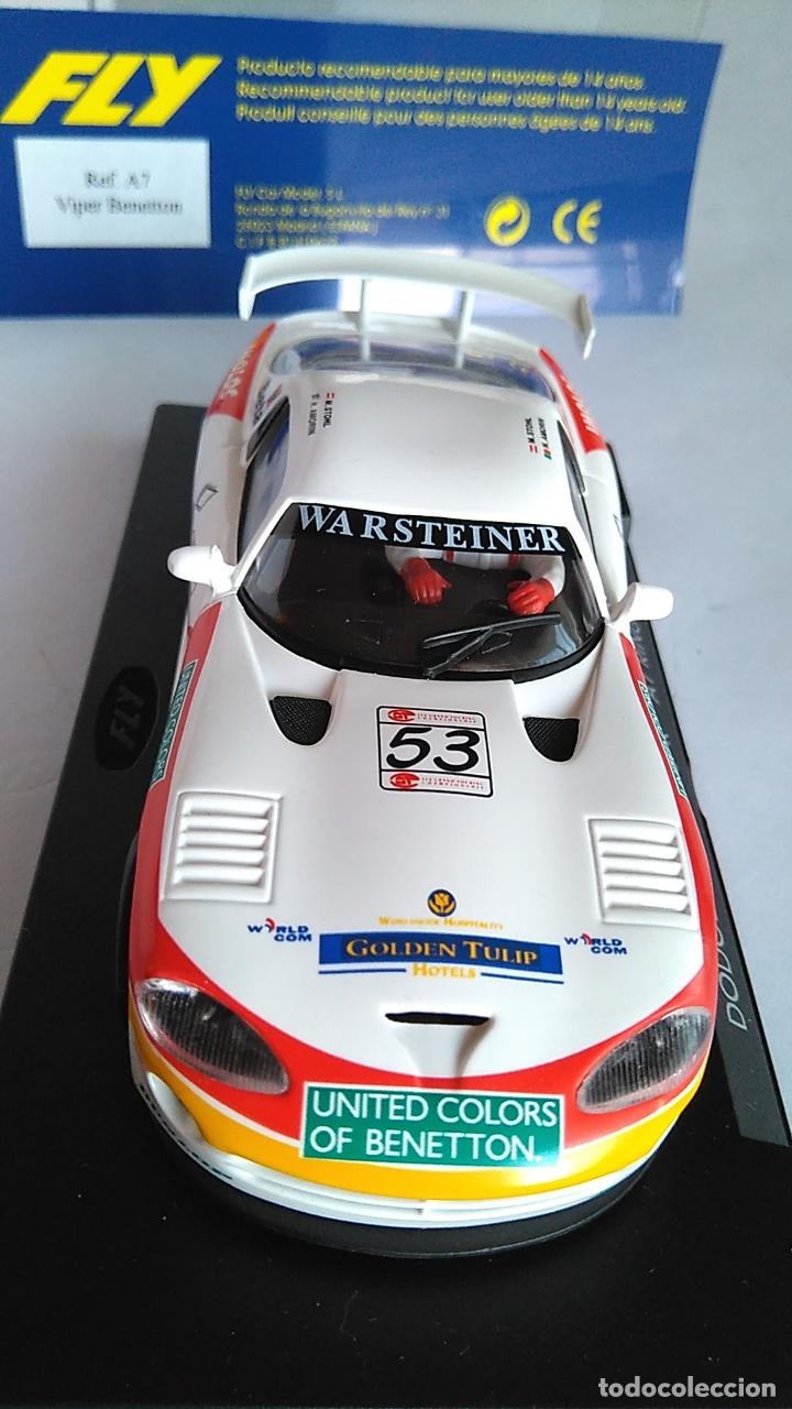 Slot Cars: FLY CAR MODEL DODGE VIPER GTS-R A1 RING 98. NUEVO, EN URNA.VÁLIDO SCALEXTRIC. - Foto 2 - 171708105