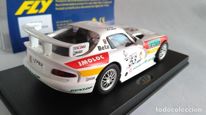 Slot Cars: FLY CAR MODEL DODGE VIPER GTS-R A1 RING 98. NUEVO, EN URNA.VÁLIDO SCALEXTRIC. - Foto 3 - 171708105
