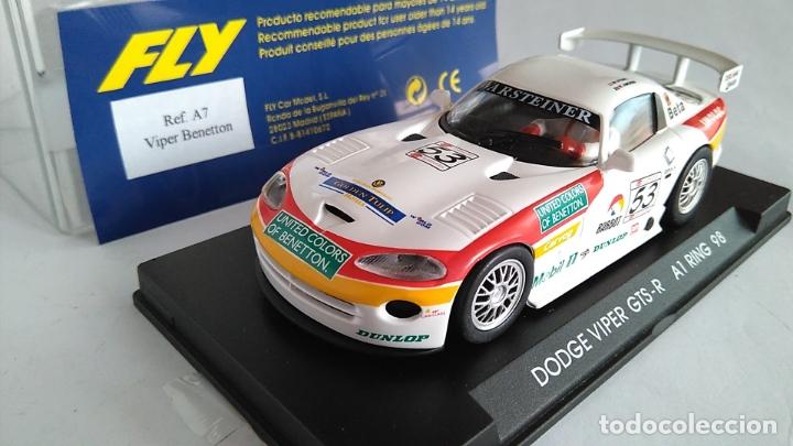 FLY CAR MODEL DODGE VIPER GTS-R A1 RING 98. NUEVO, EN URNA.VÁLIDO SCALEXTRIC. (Juguetes - Slot Cars - Fly)