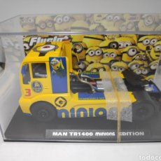 Slot Cars: FLYSLOT MAN 1400 TR MINIONS ESPECIAL EDITION REF. 203109 FLY 100 UNIDADES. Lote 171830047