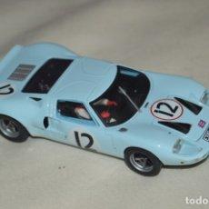 Slot Cars: PRECIOSO - FLY CAR MODEL - FORD GT 40 - FABRICADO EN ESPAÑA - SLOT / SCALECTRIC - MUY BUEN ESTADO. Lote 172571739