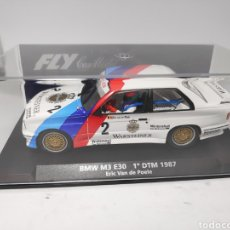 Slot Cars: FLY BMW M3 E30 1°DTM 1987 REF. 88212. Lote 190155647