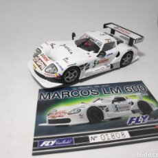 Slot Cars: FLY MARCOS 600 LM CRIN. Lote 175854540