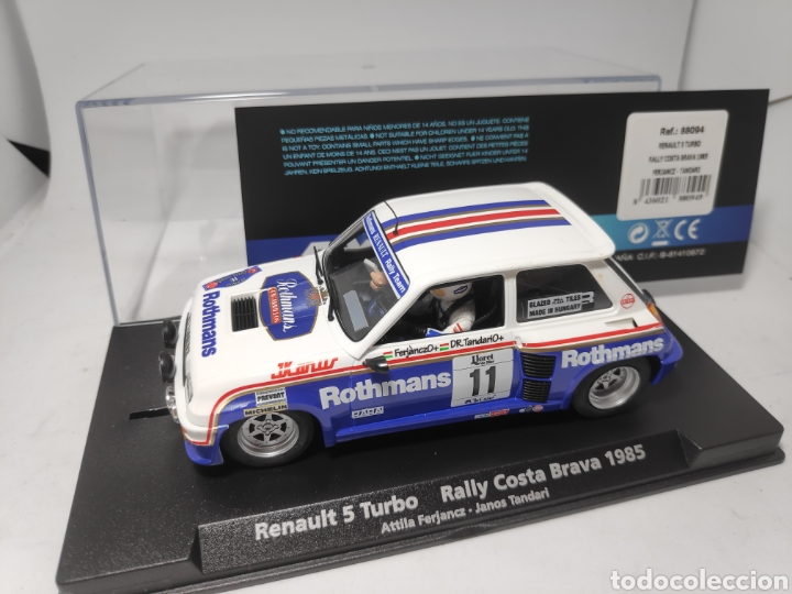 FLY RENAULT 5 TURBO RALLY COSTA BRAVA 1985 REF. 88094 ROTHMANS (Juguetes - Slot Cars - Fly)