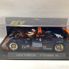 Slot Cars: COCHE SLOT PORSCHE JOEST 1º LE MANS 96 FABRICADO POR FLY CON CAJA NUEVO. Lote 178653787