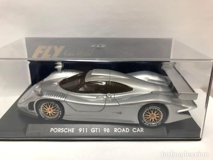 COCHE SLOT PORSCHE 911 GT1 98 ROAD CAR FABRICADO POR FLY CON CAJA NUEVO (Juguetes - Slot Cars - Fly)