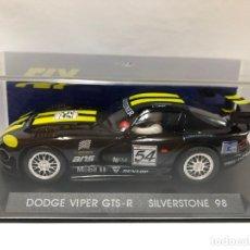 Slot Cars: COCHE SLOT DODGE VIPER GTS-R SILVESTONE 98 POR FLY CON CAJA NUEVO. Lote 178657351