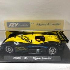 Slot Cars: COCHE SLOT PANOZ LMP 1 PAGINAS AMARILLAS FABRICADO POR FLY CON CAJA NUEVO. Lote 178657566