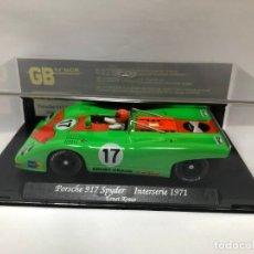 Slot Cars: COCHE SLOT PORSCHE 917 SPYDER INTERSERIE 1971 GB TRACK FABRICADO POR FLY CON CAJA NUEVO. Lote 178681840
